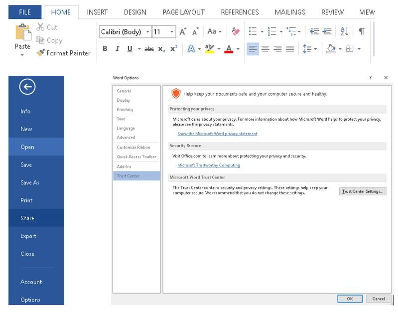 Word document security improvements