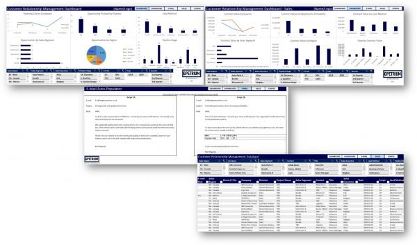 Premium CRM excel solution overview